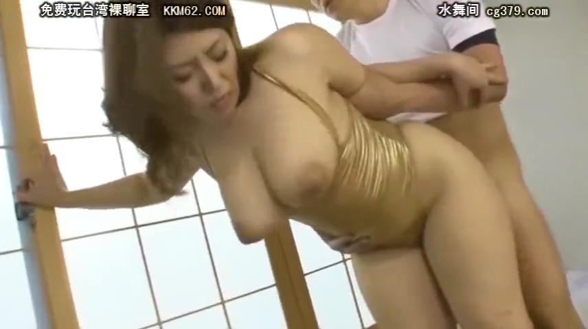 光沢レオタード_巨乳熟女_着衣セックス_adaruto動画03