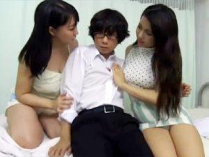【逆レイプadaruto動画】入院した母のお見舞いに来た男子高校生を同じ病室で入院する爆乳お姉さんが逆レイプww