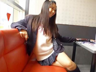 【JK中出しセックスadaruto動画】SNSを利用して援交相手を探すパイパン女子校生に生中出しした一部始終をハメ撮りww