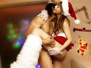 【サンタコスプレadaruto動画】吉沢明歩がサンタコスでM男調教&クリぼっち男子に3Pのプレゼントww
