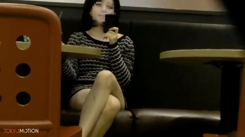 ショートカット_喫茶店_パンチラ_盗撮_adaruto動画04